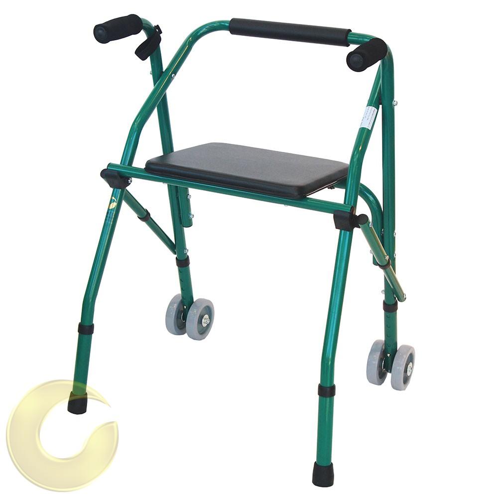 הליכון מתקפל למבוגרים עם מושב מובנה