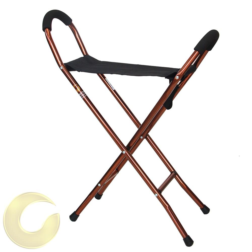 מקל הליכה עם כסא לכבדי משקל