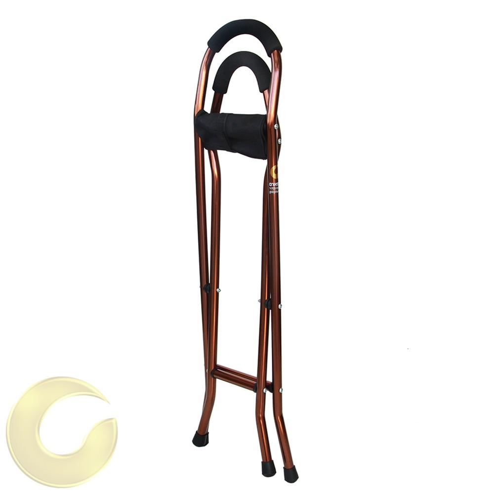 מקל הליכה עם כסא לכבדי משקל מקופל