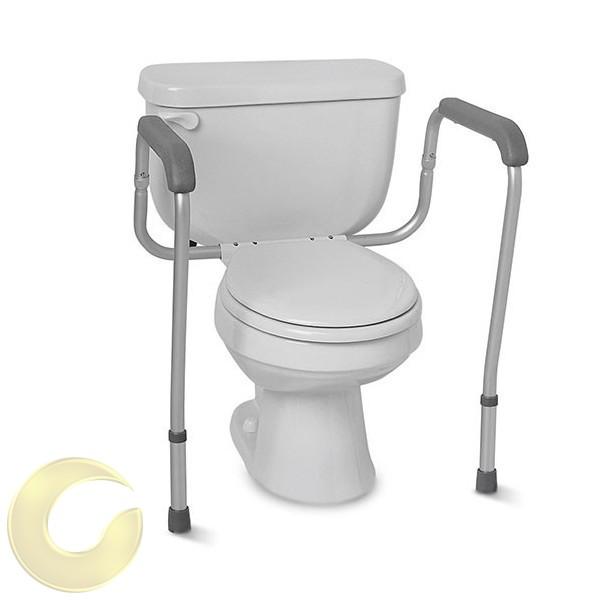 ידיות אחיזה לשירותים עם חיבור לאסלה