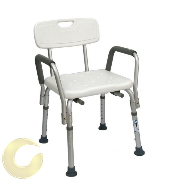 כסא רחצה למבוגרים בטיחותי עם ידיות
