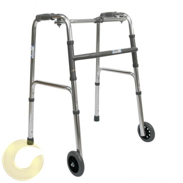 הליכון מתקפל עם גלגלים - אל חלד
