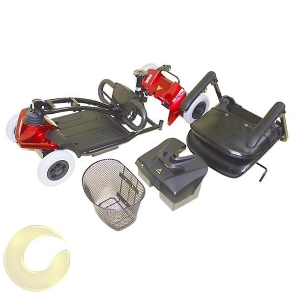 קלנועית 4 גלגלים מתקפלת קלה וקומפקטית