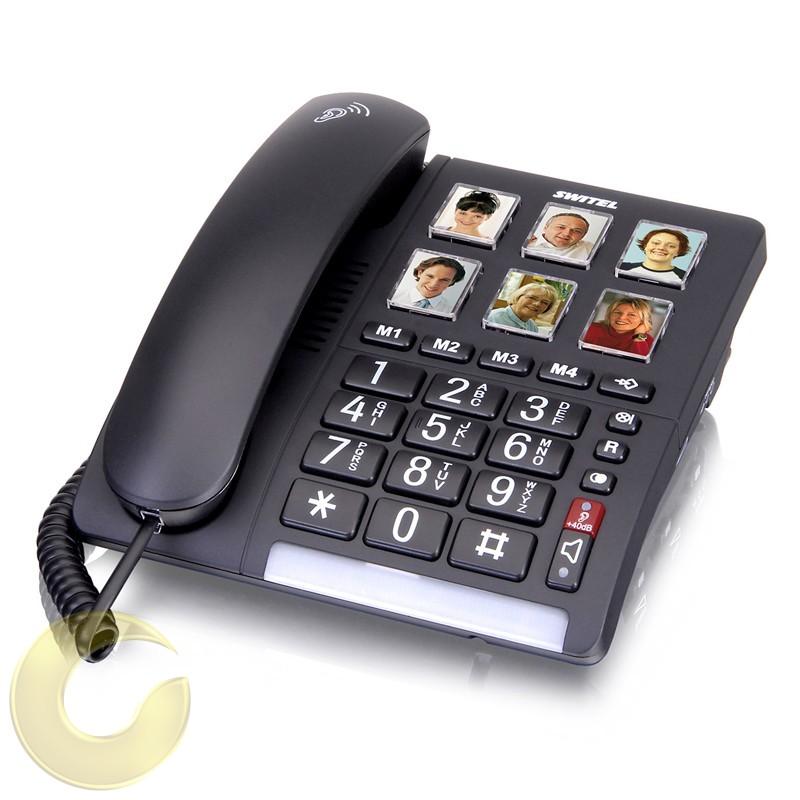 טלפון קווי לכבדי שמיעה TF540