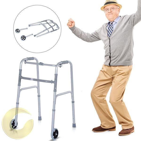 הליכון למבוגרים מתקפל עם גלגלים