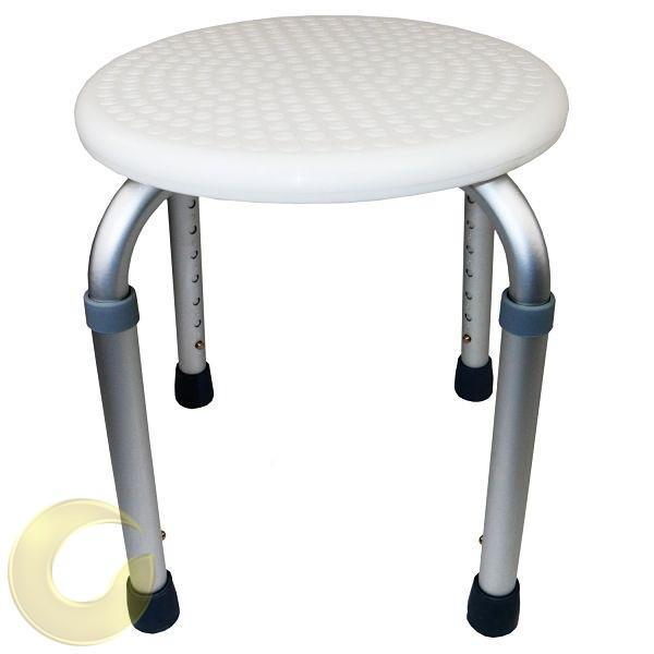 כסא רחצה שרפרף עגול נוח ובטיחותי