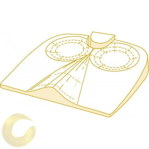 כרית ישיבה ויסקו אלסטית לישיבה זקופה ושמירה על עצם הזנב
