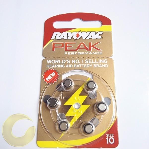 סוללה למכשיר שמיעה Rayovac מידה 10