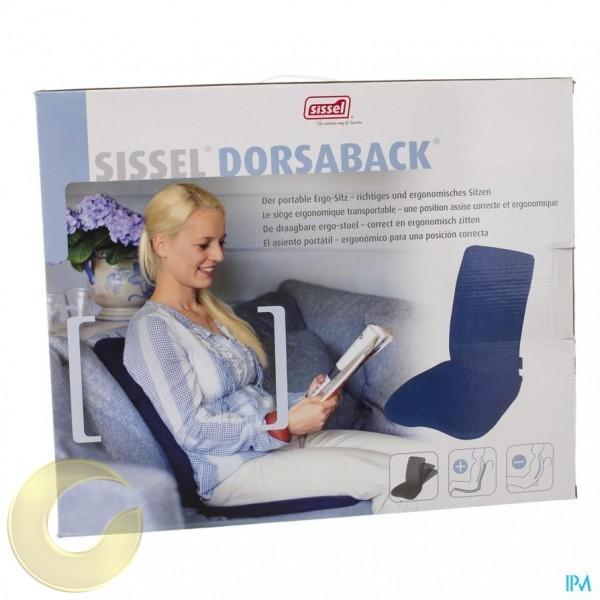 מושב אורטופדי נייד עם משענת DORSABACK מבית SISSEL שבדיה