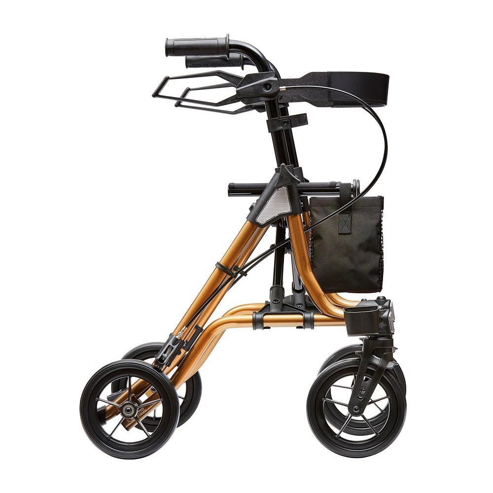 רולטור 4 גלגלים קל משקל . כתום שחור